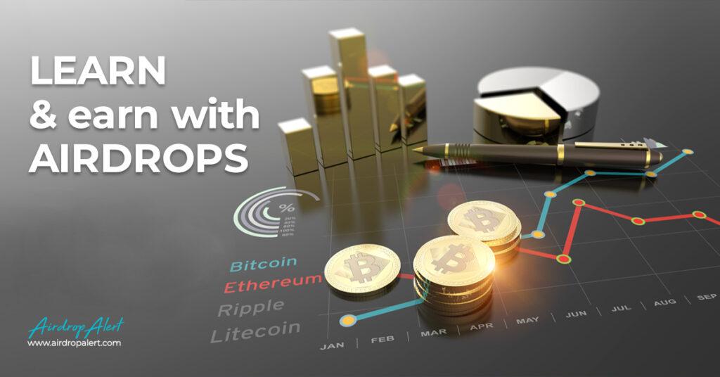 Al 2500 crypto airdrops vermeld op AirdropAlert com