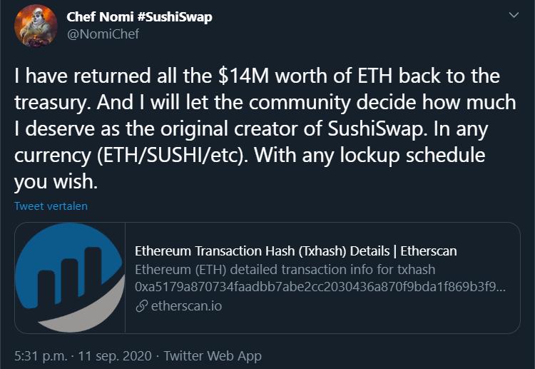 Chef Nomi SushiSwap