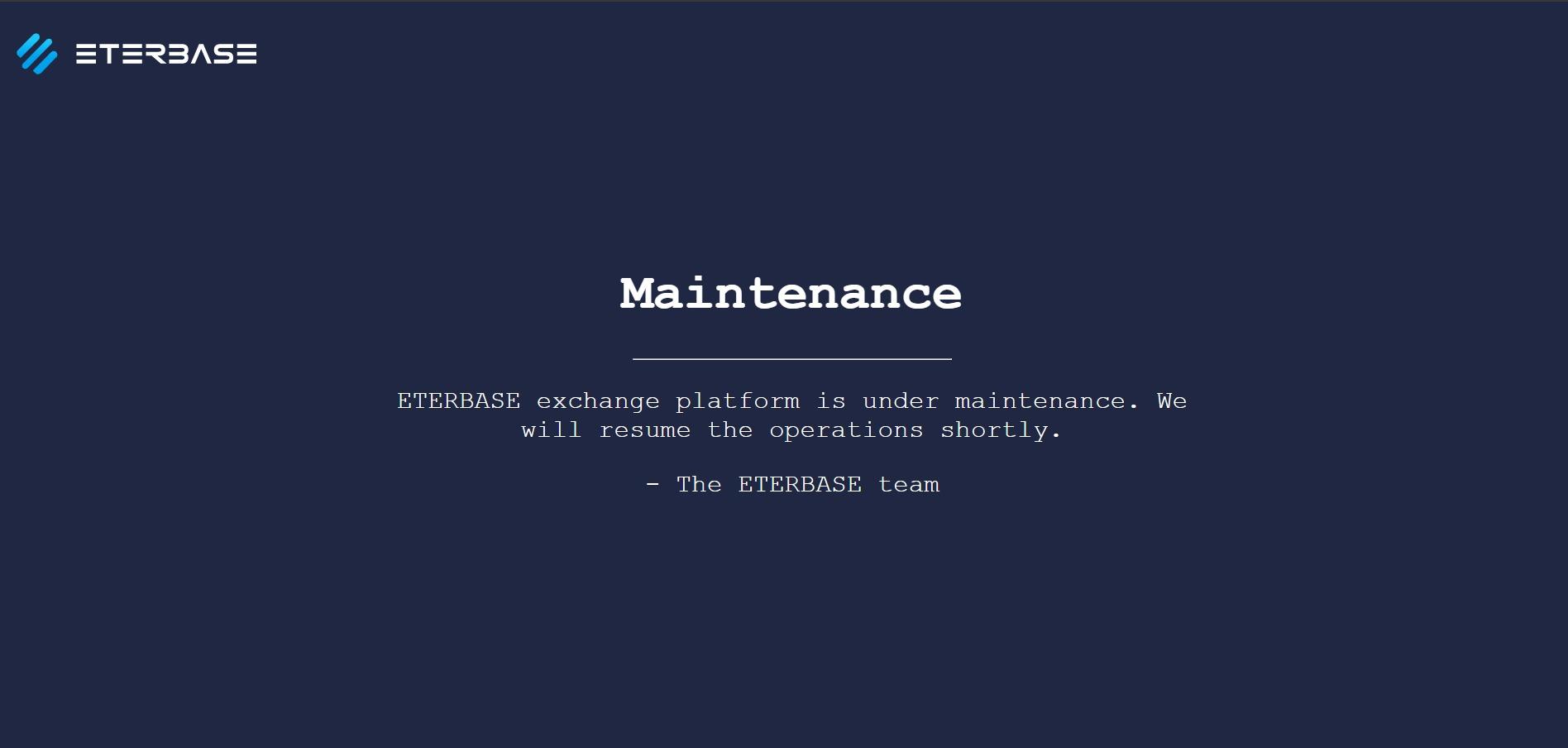 Eterbase hacked